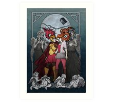 The Angels take the Ponds Art Print