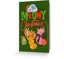 Christmas card - Meowy Christmas Greeting Card