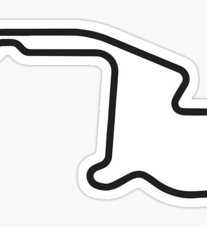Mid-Ohio track map sticker Sticker