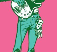 Rock 'n Roll Wolf Sticker