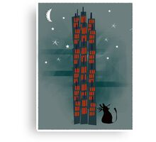 Animal's Nightlife - Urban Cat Canvas Print