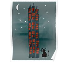 Animal's Nightlife - Urban Cat Poster