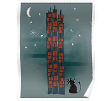 Urban Cat Poster