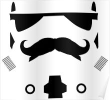 Mustached Trooper Poster