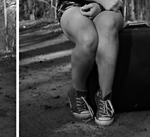 "Self Portrait- Diptych ""I'm Leaving Home!"" by MJD Photography  Portraits and Abandoned Ruins"