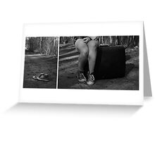 """Self Portrait- Diptych """"I'm Leaving Home!"""" Greeting Card"""