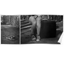 """Self Portrait- Diptych """"I'm Leaving Home!"""" Poster"""