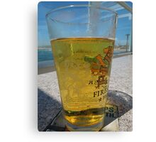 A cold glass of beer..... Canvas Print