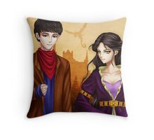 The warlock and the high priestess Throw Pillow