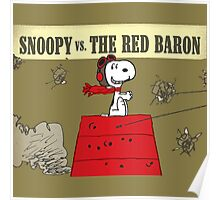 snoopy vs the red baron Poster