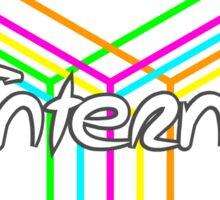 Internet Box Neon Sticker