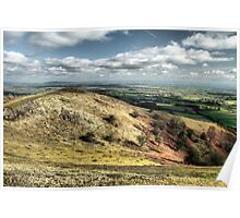 View from Raggedstone Hill, Worcestershire, England Poster