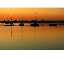 Sleeping Sail Boats Photographic Print