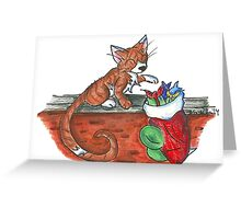 Catnip Christmas Greeting Card
