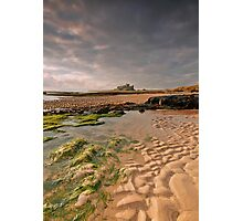 Early morning light on Bamburgh Castle, Northumberland Photographic Print