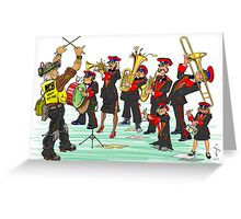 Pegswood Miners Colliery Band - Coloured in Greeting Card