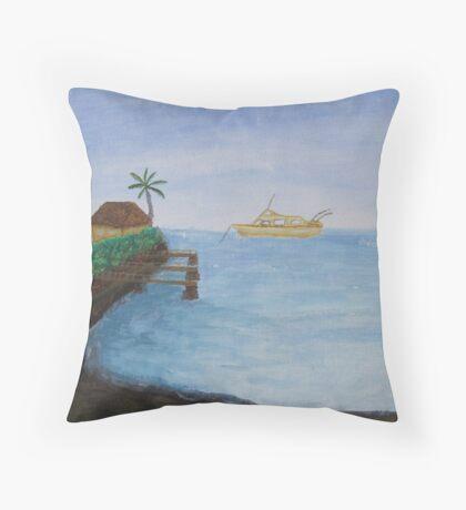 Wailupe Bay Throw Pillow