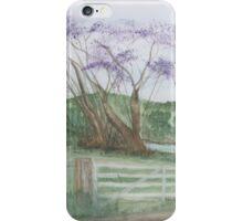 Tree with lavander flowers. iPhone Case/Skin