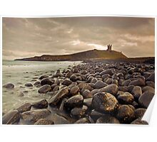 Dunstanburgh Castle from The Boulder Field, Northumberland Poster