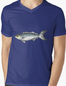 Hatteras Blue Mens V-Neck T-Shirt