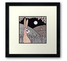 Midnight Doe Hare Framed Print