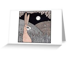 Midnight Doe Hare Greeting Card