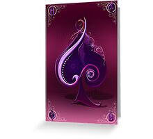 The Chromatic Deck - Ace of Spades Greeting Card