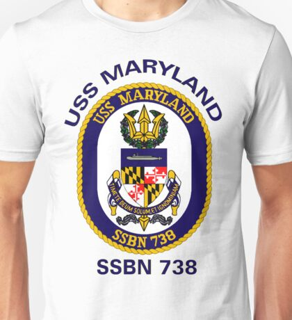 USS Maryland (SSBN-738) Crest Unisex T-Shirt