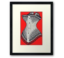 Corset Lace Framed Print