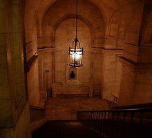 Staircase at the New York city library by Magdalena Warmuz-Dent