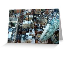 New York skyscrapers Greeting Card