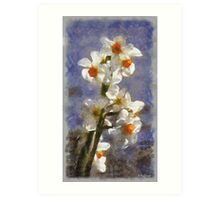 Daffodil Tree Art Print
