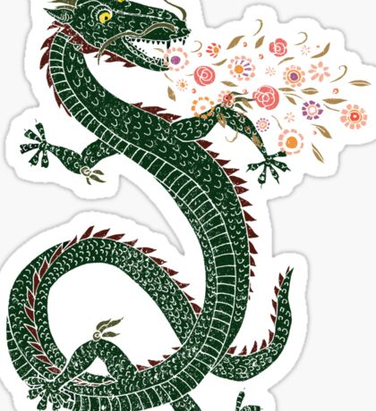 Dragon, Flower Breathing Sticker