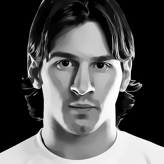 Lionel Messi Digital Art Portrait by David Alexander Elder