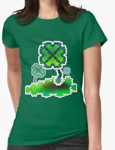 Four Leaf Clover Womens Fitted T-Shirt