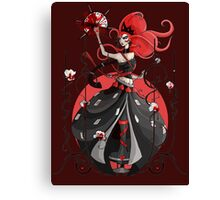 Queen of Hearts: Painting the Roses Red Canvas Print