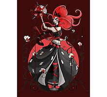 Queen of Hearts: Painting the Roses Red Photographic Print