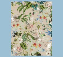 Retro Tropical Flowers Kids Tee