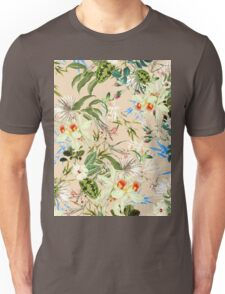 Retro Tropical Flowers Unisex T-Shirt
