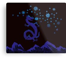 Northern Lights Dragon Metal Print