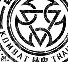 Mortal Kombat - Lin Kuei Dojo - Black Dirty Sticker