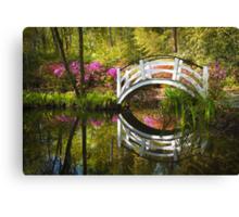 Charleston SC Magnolia Plantation Spring Blooming Azalea Flowers Garden Canvas Print