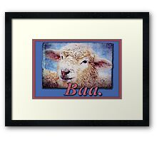 """Baa."" (with background) Framed Print"