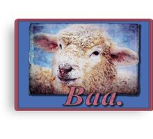 """Baa."" (with background) Canvas Print"