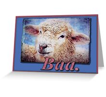 """Baa."" (with background) Greeting Card"