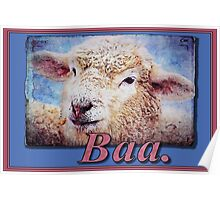 """Baa."" (with background) Poster"