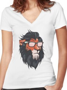 Cool Summerish Scar Women's Fitted V-Neck T-Shirt