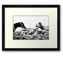 Doggy Tea Party Framed Print