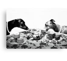 Doggy Tea Party Canvas Print