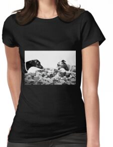 Doggy Tea Party Womens Fitted T-Shirt